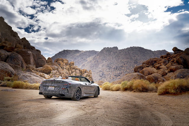 bmws tests its latest 8 series convertibles prototype in death valley bmw convertible testing  6