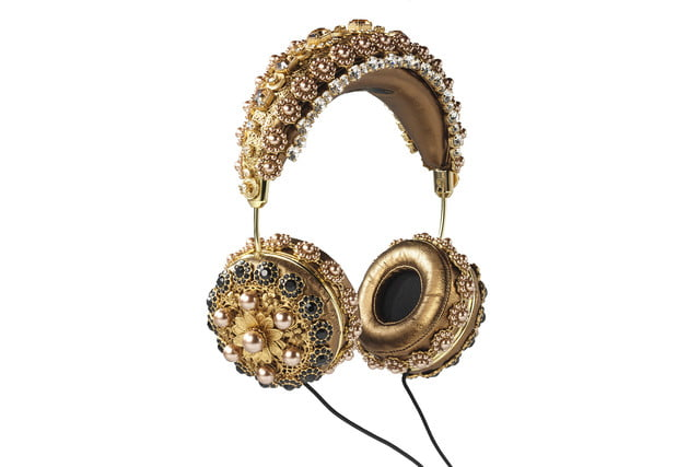 rihanna sells out 9000 dollar dolce gabanna headphones bronze napa hanging