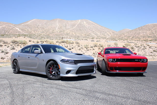 2015 dodge charger challenger srt hellcats track review and hellcat on fronts full