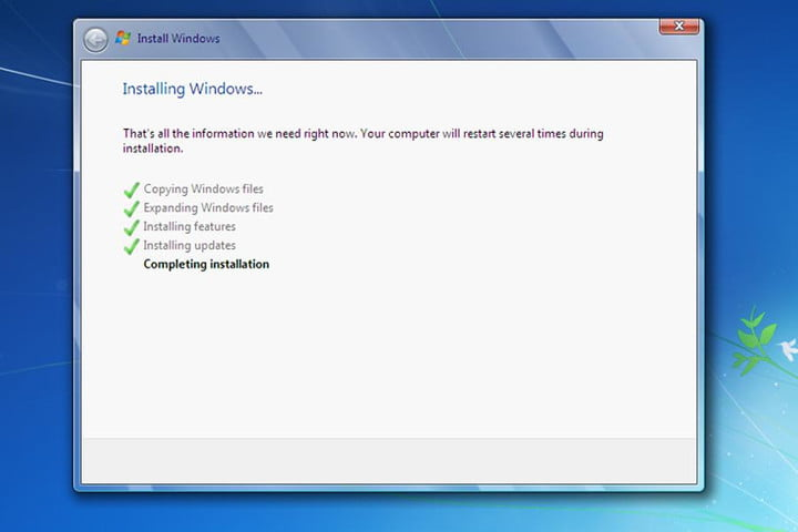 Completing Windows 7 Installation