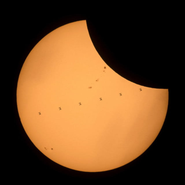 best solar eclipse photos composite iss nasa