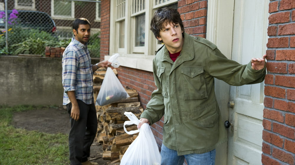 Aziz Ansari and Jesse Eisenberg in 30 Minutes or Less