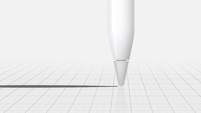 apple ipad pro pencil for artists draw lines of any weight  just apply pressure