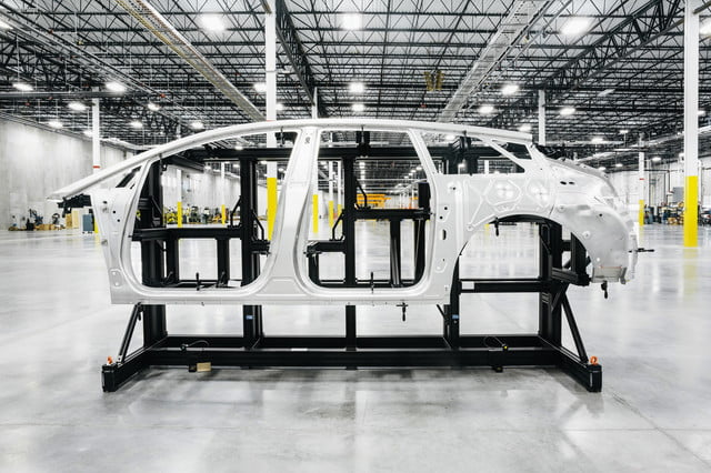 Faraday Future FF 91 body-in-white