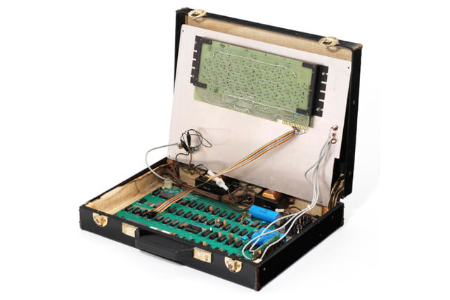 apple 1 housed in a leather briefcase auctions for 470000 first computer  3