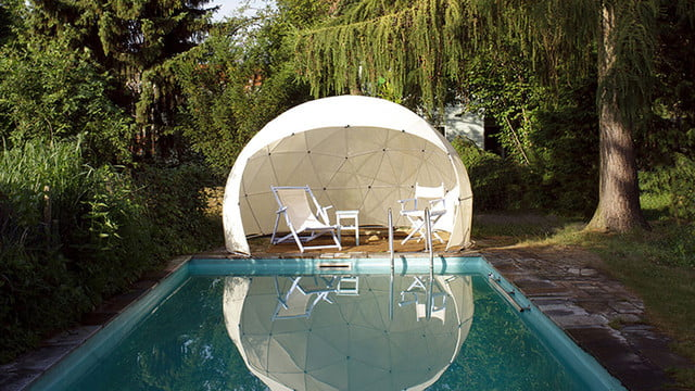 the garden igloo is a geodesic dome for your lawn 0012