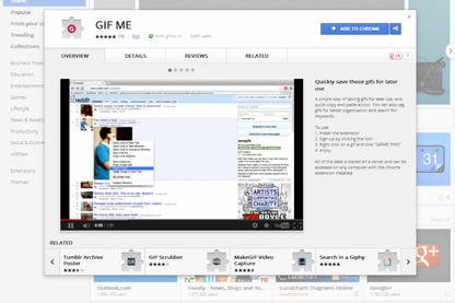 Gif me helps you turn the Web into your GIF collection