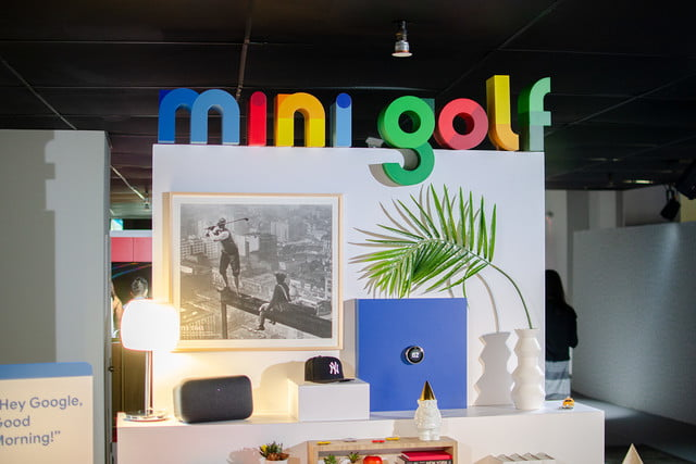googles mini golf pop up event in nyc highlights its smart home products google display