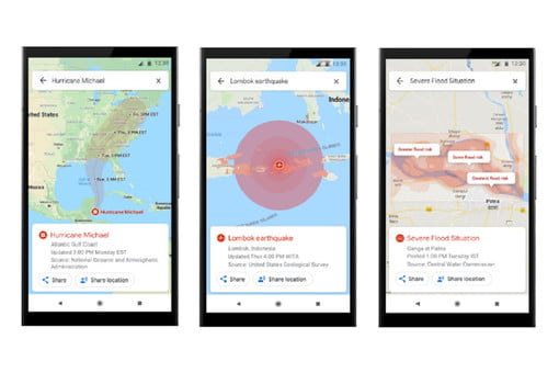 Google Maps Adds Warnings and Navigation for Disasters