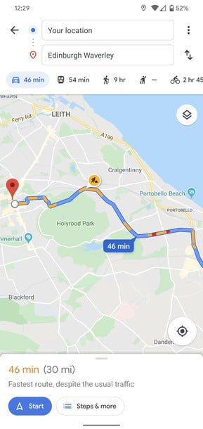 how to use google maps traffic 1