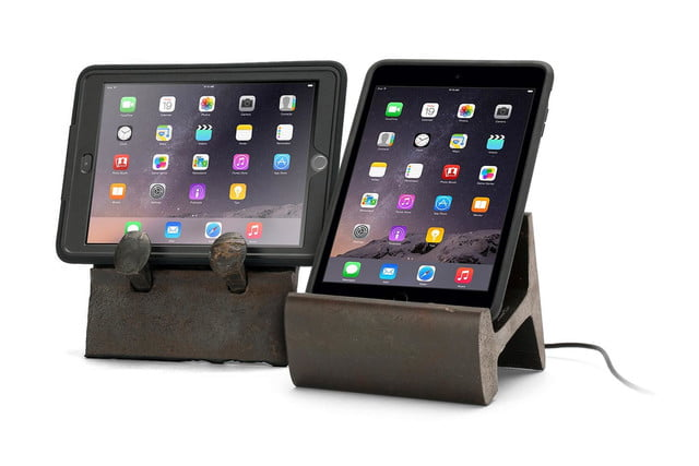 Rail Yard Studio and Griffin Make Tablet Stands of Old Steel