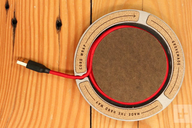 Grovemade Wireless Charging Pad Review bottom cord left