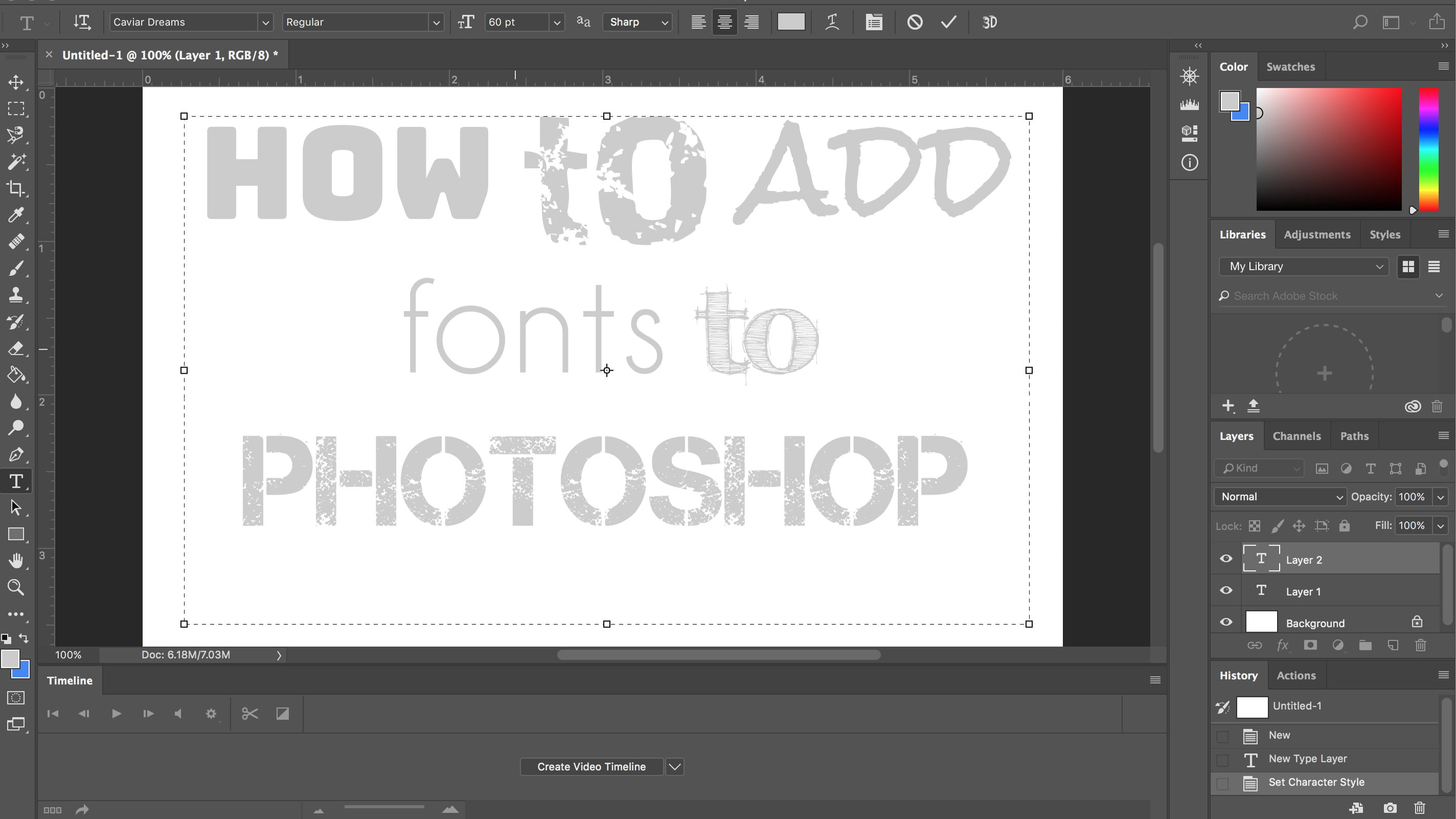 How To Add Fonts To Photoshop, From Typekit to Font