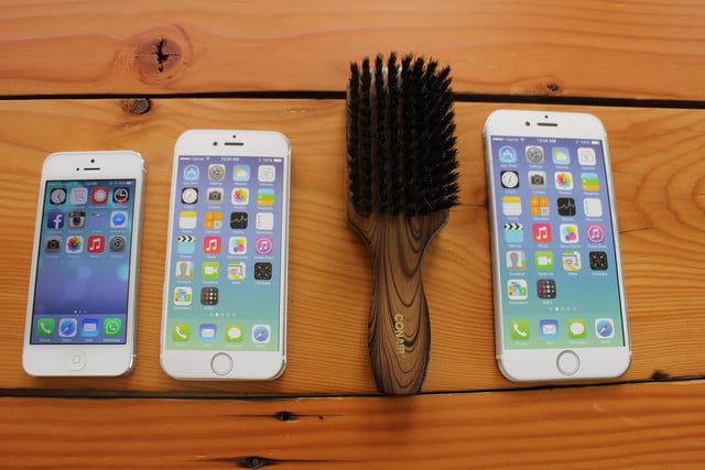 iphone 6 plus size comparison hairbrush