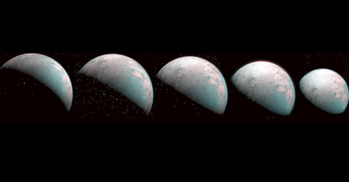 NASA's Juno spacecraft maps the northern pole of moon Ganymede for first time