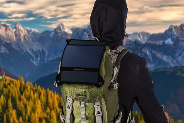 flexible solar panel kickstarter sunnybag leaf
