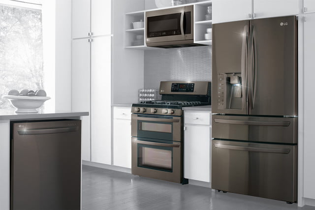 black stainless steel appliances trend lg series