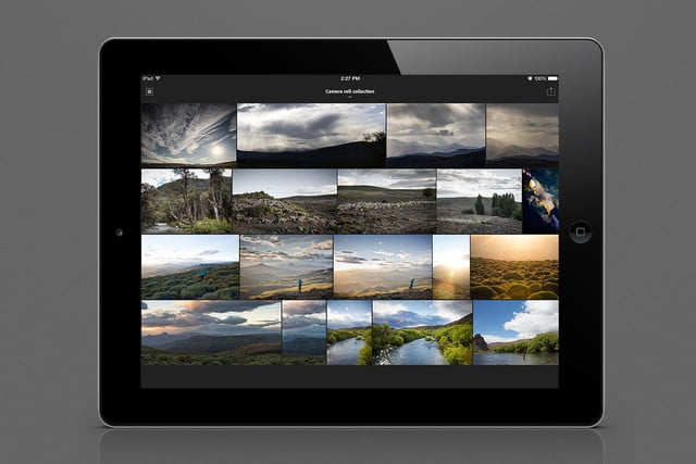 adobes lightroom lands on ipad subscription only lr mobile camera roll 1