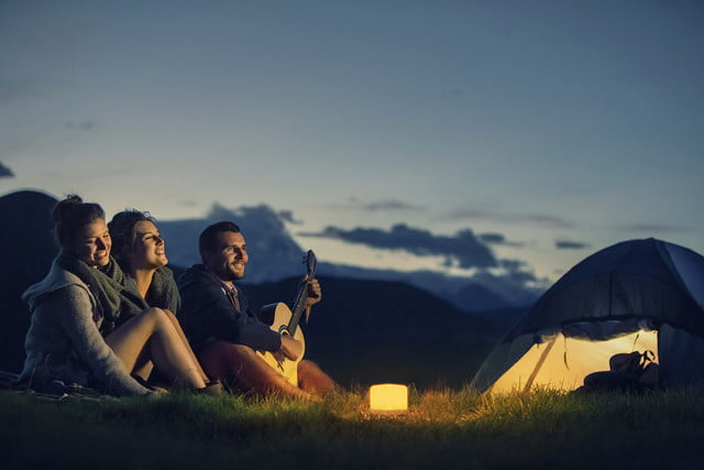 Lucis mood lighting - camping outdoors