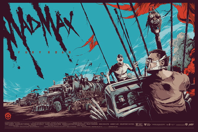 best stranger things style movie posters mad max  fury road by ken taylor