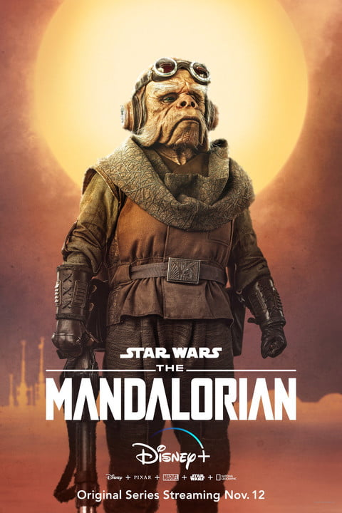 mandalorian star wars spoiler posters disney plus promo poster nick nolte as a ugnaught