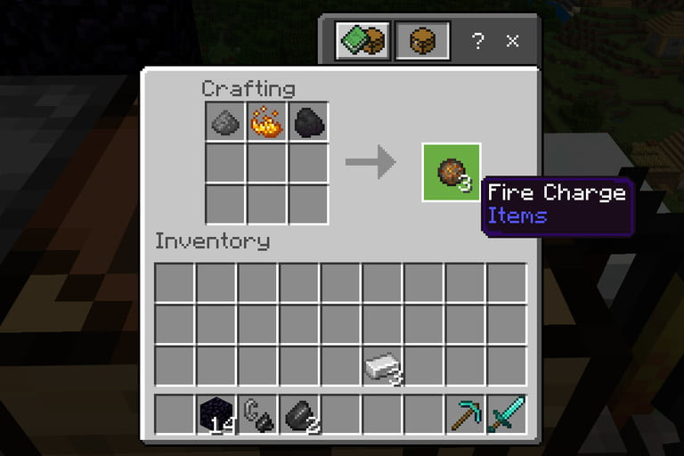 Minecraft Make Fire Charge