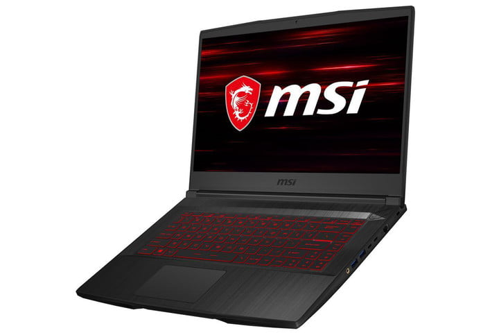MSI GF65 Thin Gaming Laptop (white background)