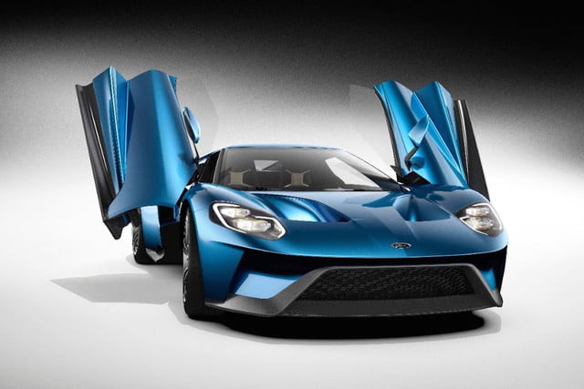 New Ford GT front doors open