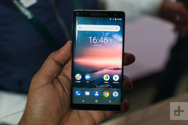 Nokia 8 Sirocco at MWC 2018