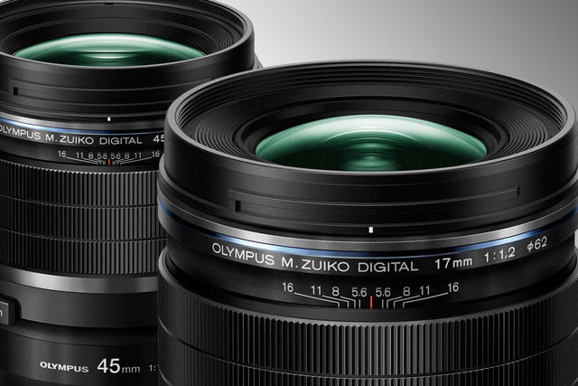 Olympus 17mm f/1.2 and 45mm f/1.2 lenses