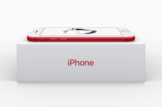 apple iphone red product box