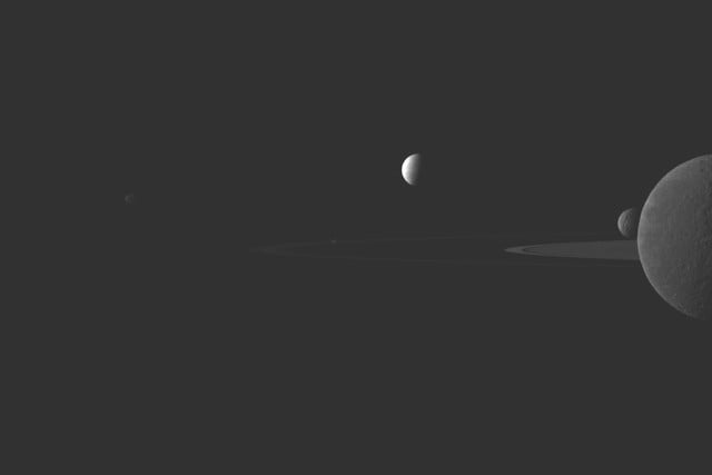 best cassini images quintet
