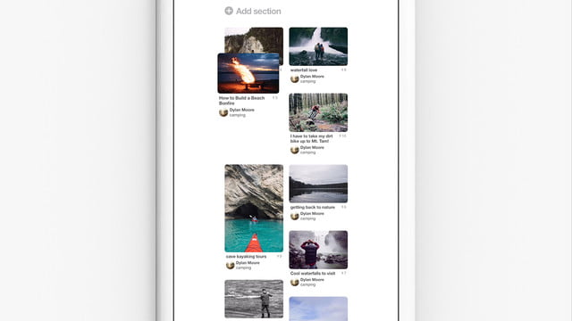 pinterest update organize andarchive boards rearranging pins still
