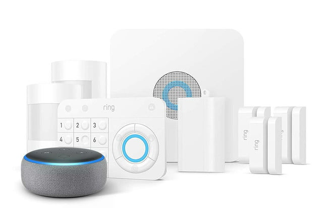 amazon slashes prices on security cameras and systems fathers day ring alarm 8 piece kit  echo dot 1