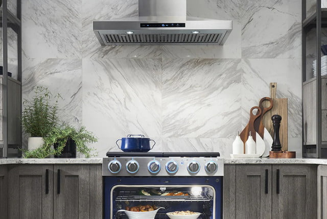 samsung introduces champagne and tuscan appliance finishes chef collection pro range hood