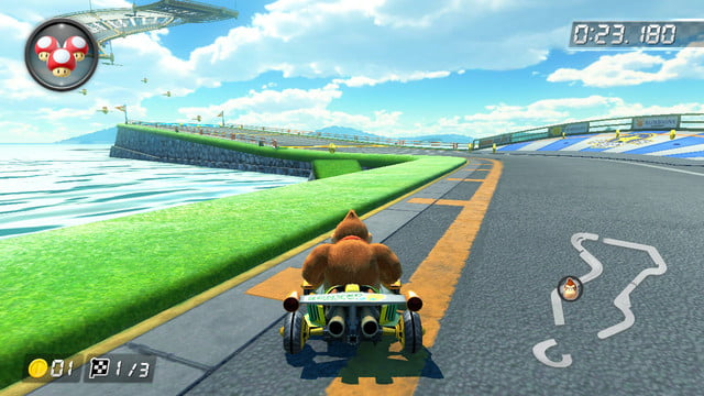 mario kart 8 shortcuts sunshine airport 1
