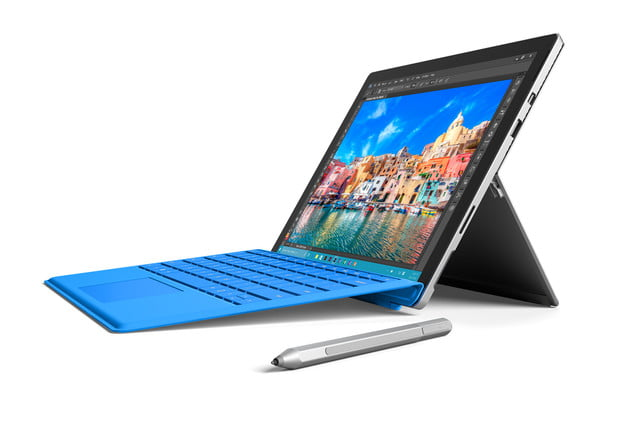 surface pro 4 with pen right angle
