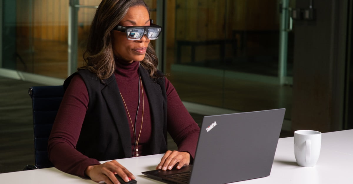 Lenovo's ThinkReality AR glasses can project virtual desktops into your eyes