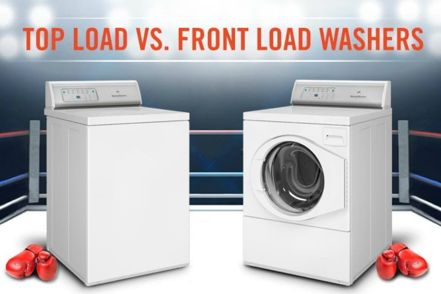 Top load vs. front load washers in boxing ring