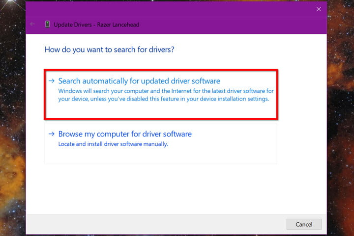 Update Drivers Search Automatically