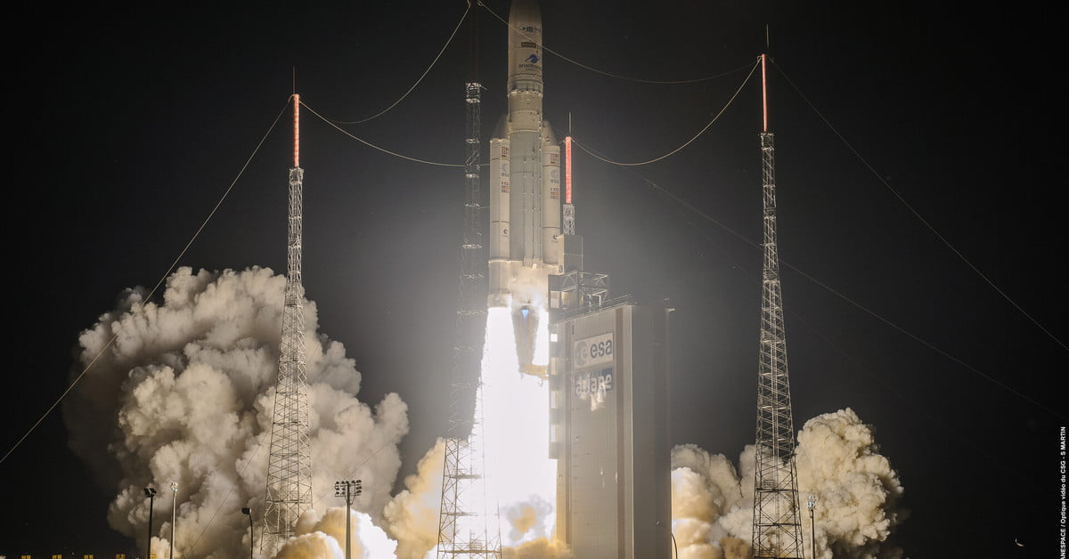 Europe launches Ariane 5 rocket for first time since pandemic started