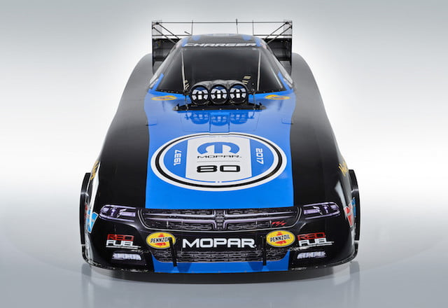 mopar 80 aniversario new 80th express lane colors for matt hagan  s dodge charger r t funny car were revealed on thursday jul