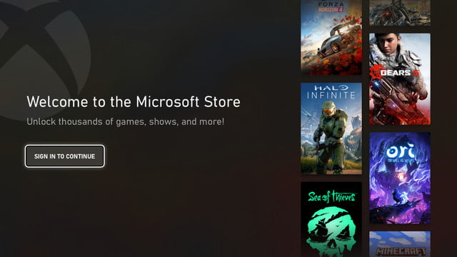 microsoft store xbox nuevo look sign in