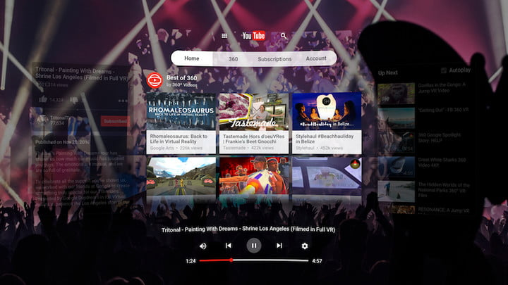 google lanza daydream view con mas apps compatibles youtubevr watch spherical browse