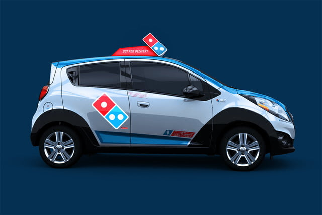dominos innovative dxp chevrolet spark pizza delivery car 4