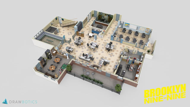 New Floor plans of uParks and Rec u and other TV offices are absolutely adorable