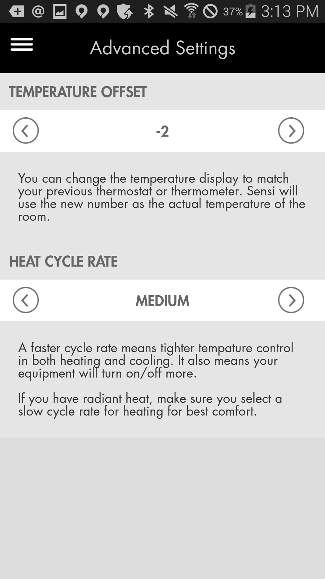 emerson sensi thermostat review digital trends emerson sensi themorstat review screenshot