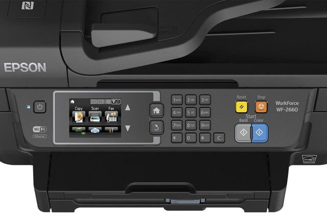 epson lowers price precisioncore inkjet tech new multifunction units workforce wf 2660 close up