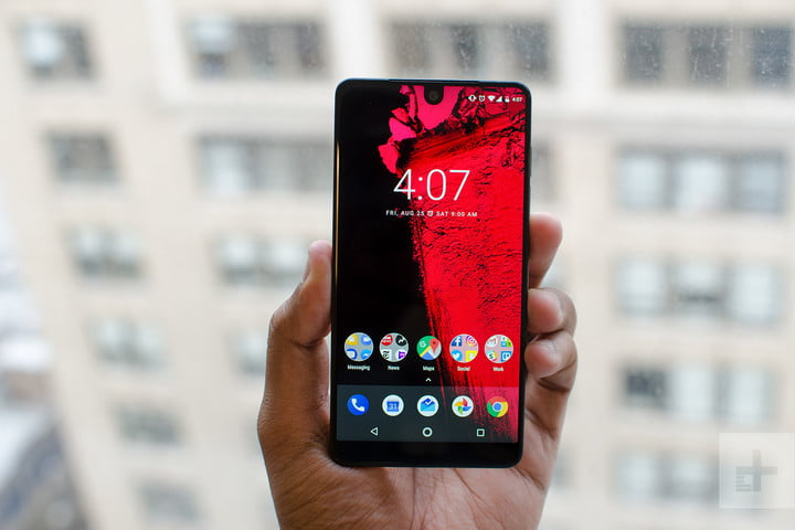 Essential phone review front window