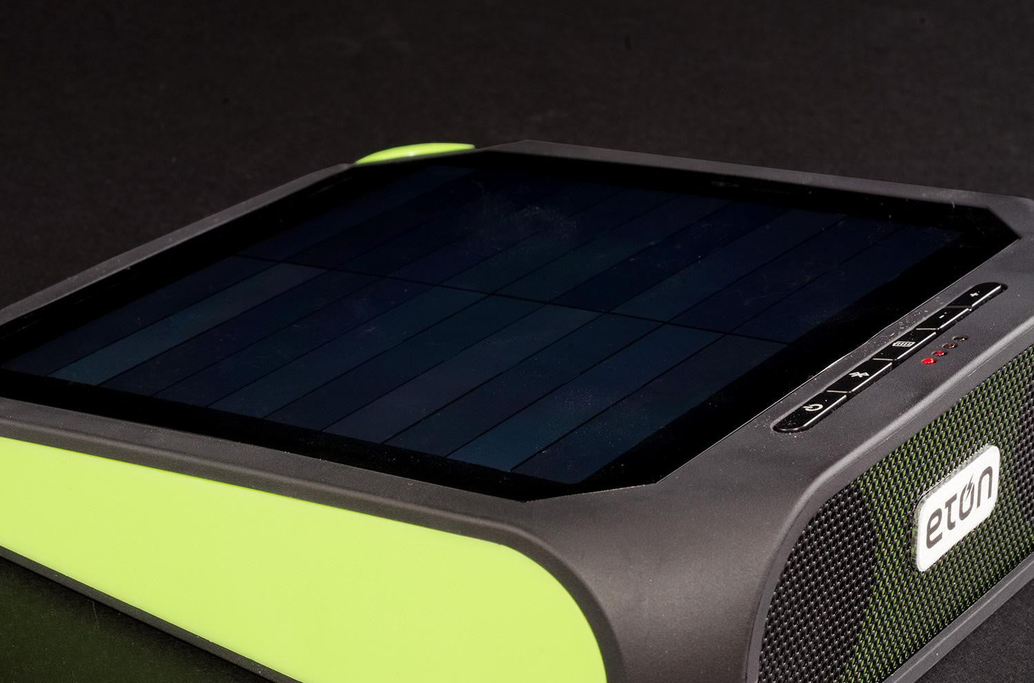 Delightful Eton Rugged Rukus Review Solar Powered Bluetooth Speaker Side Angle 3